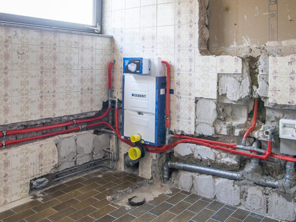 Vorbereitung Sanitär und Heizung