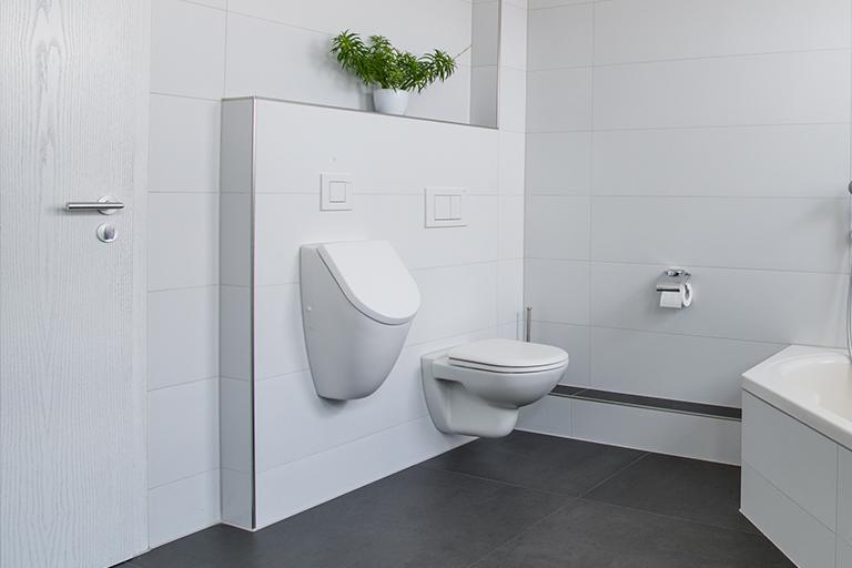 WC + Bidet fertig